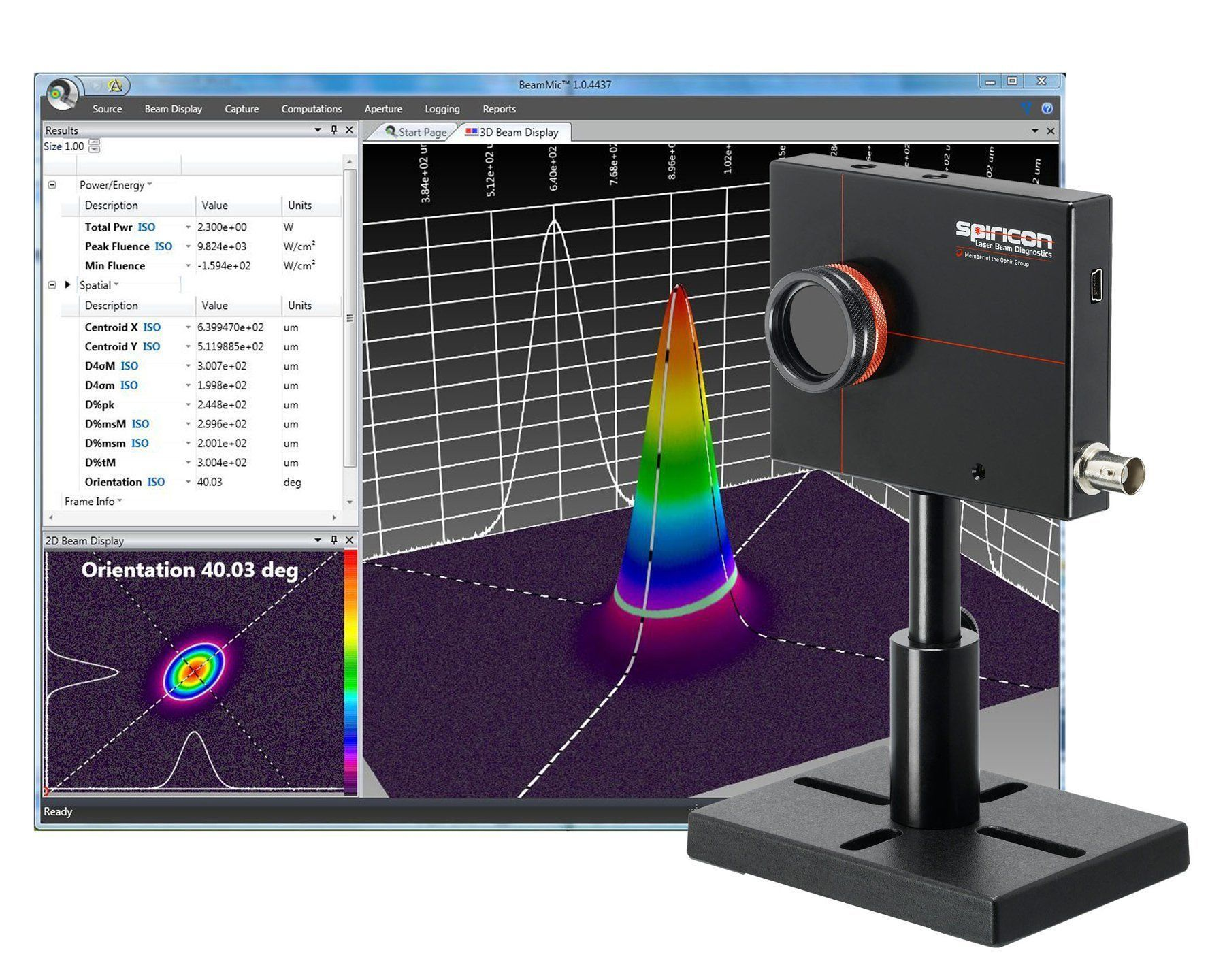 Spiricon Introduces Beammic Entry Level Laser Beam