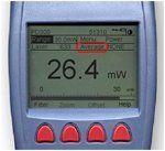 Laser power meter (Nova II) screen, showing the averaging function