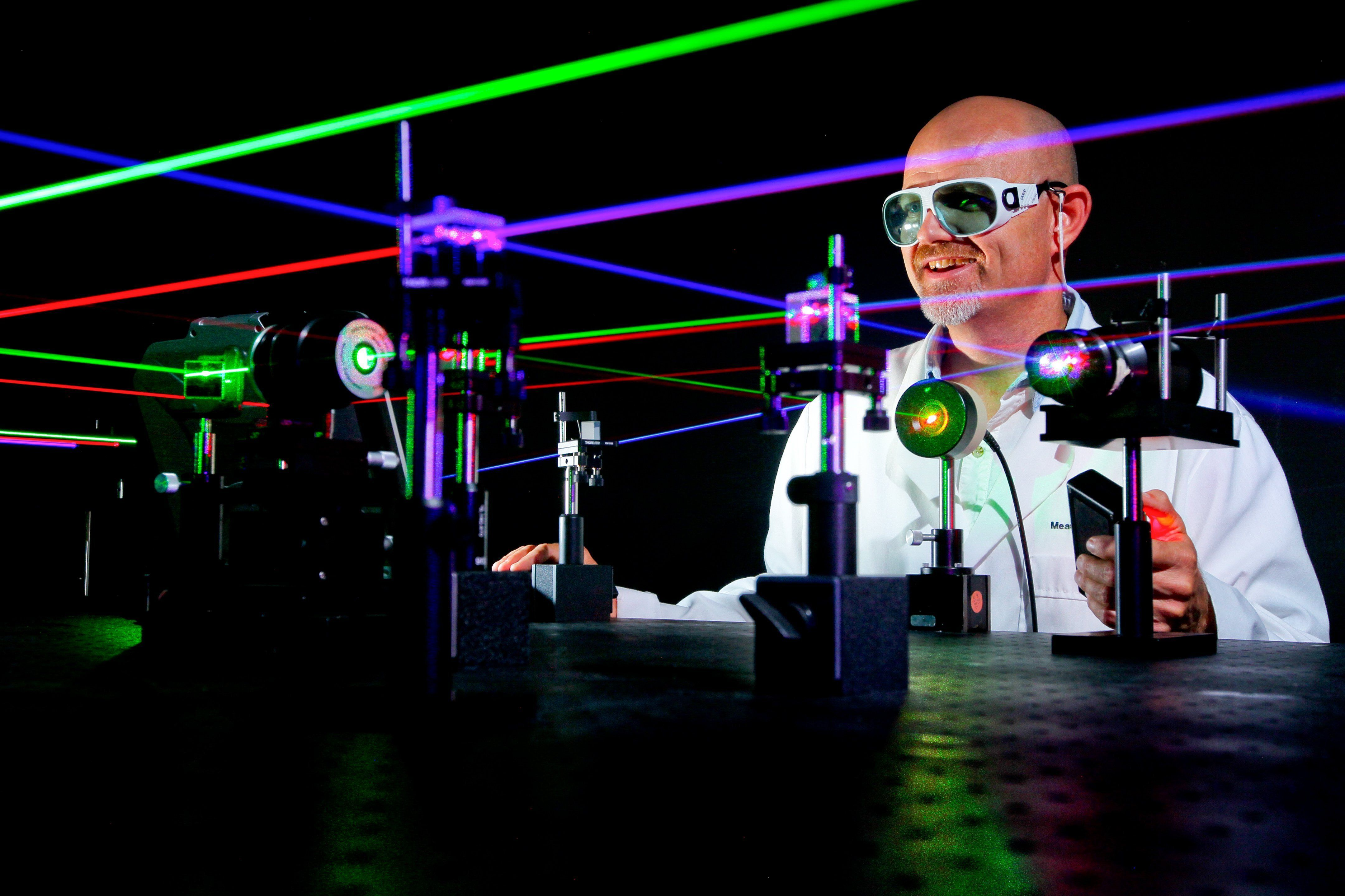 colored lasers [Naval Surface Warfare Center (NSWC), Corona Division]