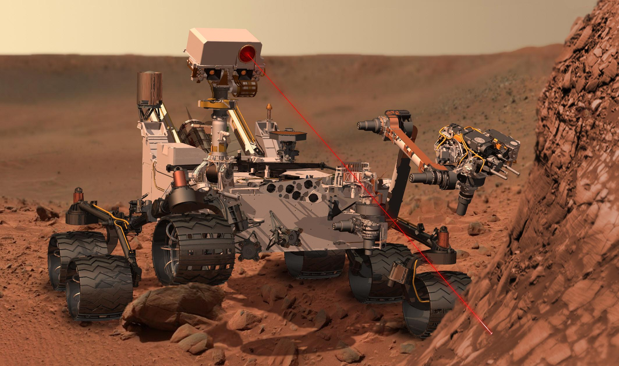 pulsed laser (curiosity rover)