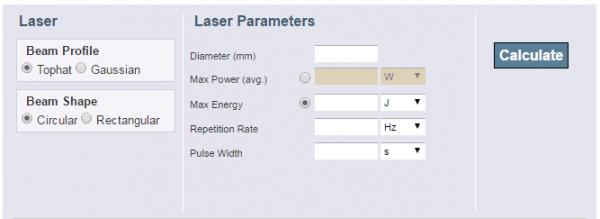 Laser Beam Optics Calculators - Ophir Photonics Blog